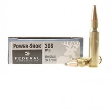 Патроны FEDERAL (.308 Win) POWER-SHOK (SP)(180grs)(11,66г.)