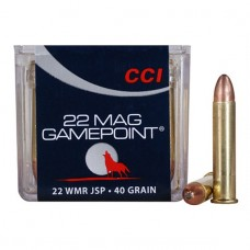 Патроны CCI (22 Win.Mag.) GAMEPOINT (JHP)(40grs)(2,59г.)